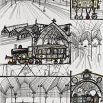 schumacher-wallpaper-by-saul-steinberg-trains