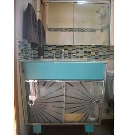 Kerriu0027s Atomic Bathroom Vanity U2013 Before U0026 After ...