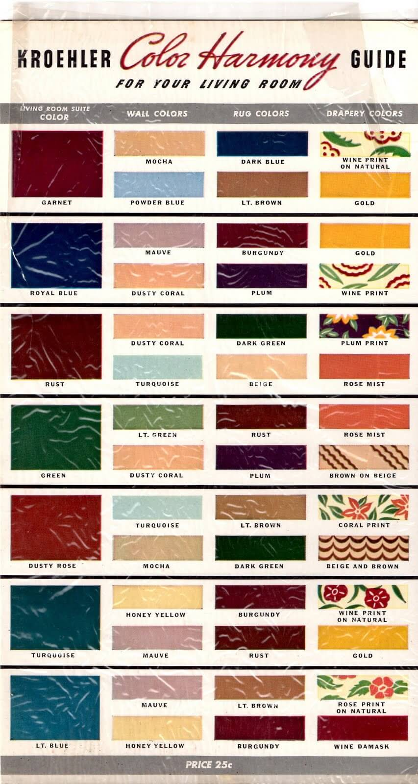1940s color guide