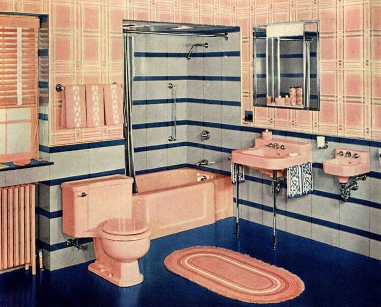 1940s decorating style retro renovation for Bathroom ideas 1940
