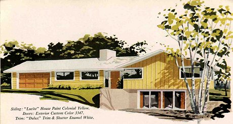 1960S Houses Prepossessing Exterior Colors For 1960 Houses  Retro Renovation Decorating Design