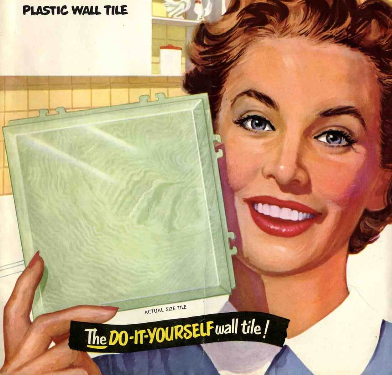plastic bathroom tiles