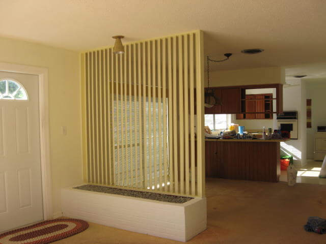interior brick floor design ideas for a built in planter retro renovation