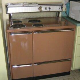 vintage brown ge stove