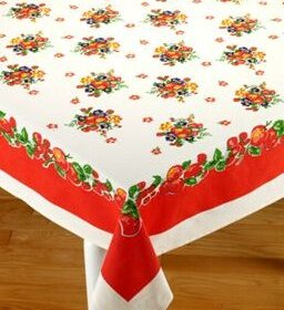 retro tablecloth from vermont country store