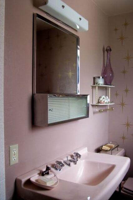 Karen Spends Create Delightful Pink Bathroom Retro Renovation
