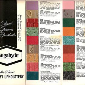 vintage naugahyde patterns