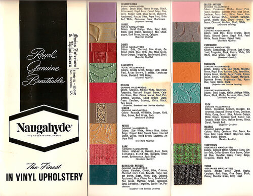 vintage naugahyde patterns