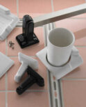 Ceramic towel bars, soap dishes & more from Rejuvenation