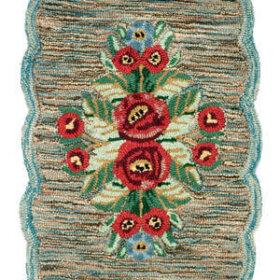 vintage style hooked rug
