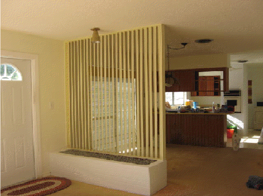 Before Amp After Of Lynne S Room Divider In Her 1959 Florida