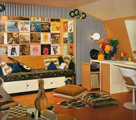 16 Mod Retro Interior Designs Fro 1968 on green homes designs