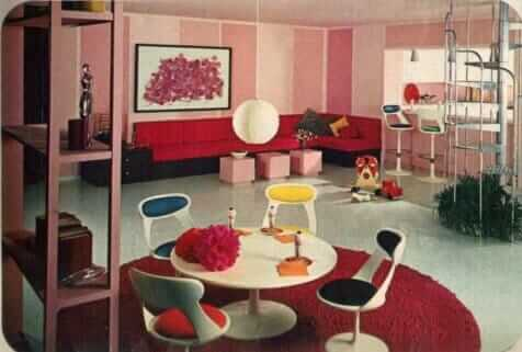 16 rooms showcasing popular colors from 1966 retro for Kitchen design 60s