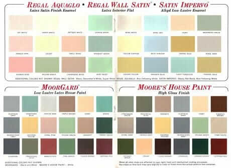indoor paint colors60 colors from Benjamin Moores 1969 paint palette  Retro Renovation