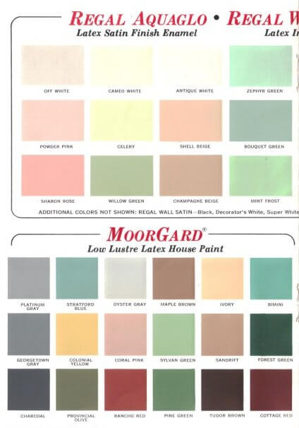 1969 benjamin moore paint colors