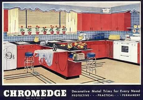 metal edging catalog from the 1940s from Chromedge company