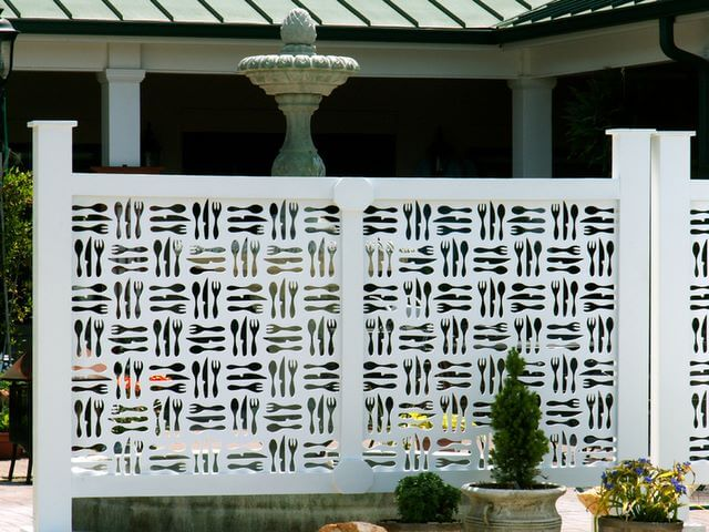 decorative privacy screen