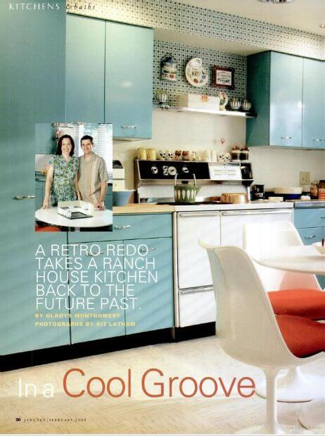 pam's 1963 kitchen in old house interiors magazine