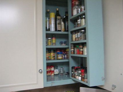 built in spice rack in 1960s st. charles kitchen cabinets