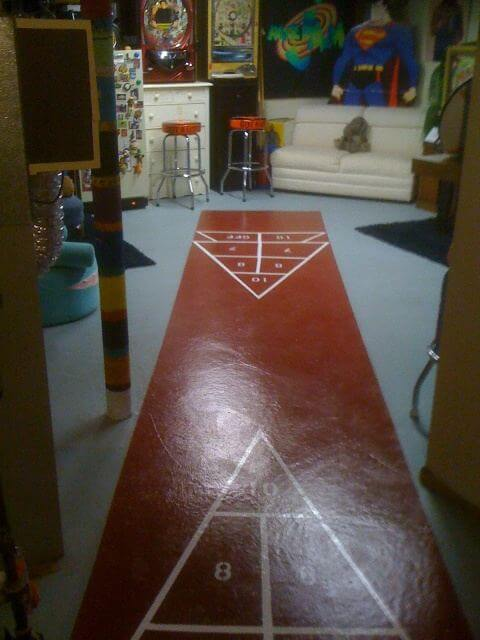 paint your own shuffleboard