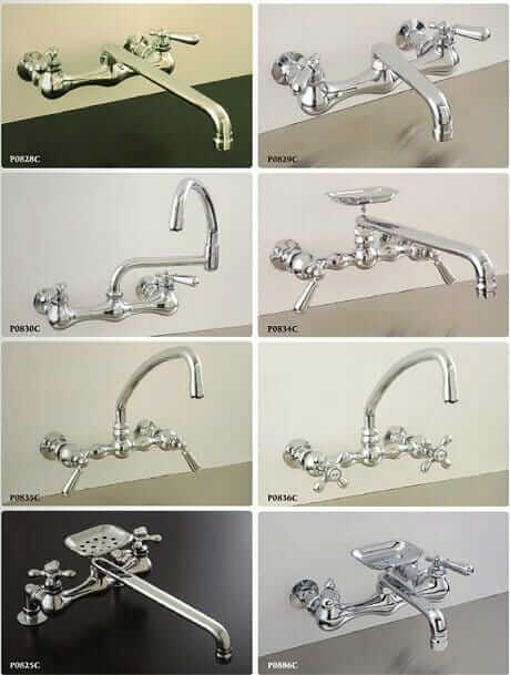 8 Vintage Style Wall Mount Kitchen Faucets Retro Renovation