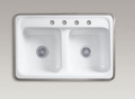 Kitchen sinks with metal rims where to buy them retro renovation kohler delafield workwithnaturefo
