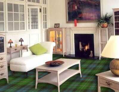 tartan plaid carpets for 50 clans