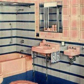 dental sink in a vintage bathroom