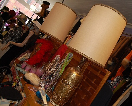 oversized 1970s gold lamps