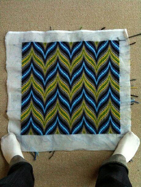 bargello needlepoint pillow