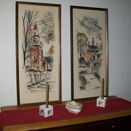 watercolor paintings of colonial williamsburg