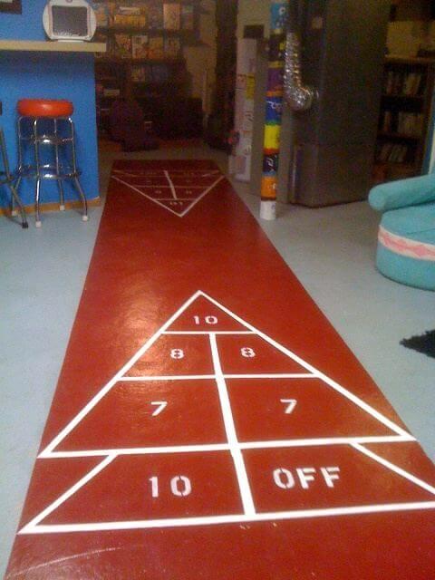 paint a shuffleboard