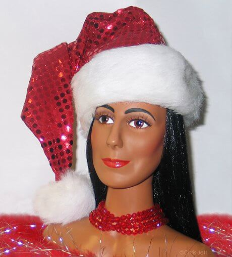 mego cher made up for christmas