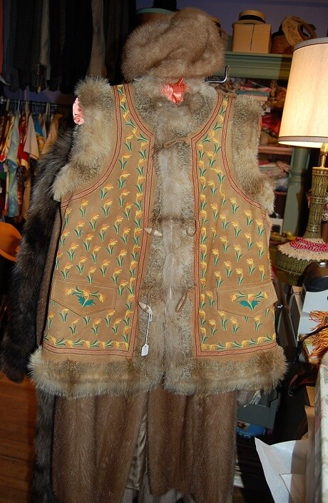 vintage embroidered hippie vest