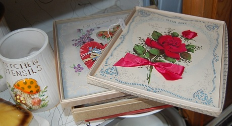 vintage valentines in boxes
