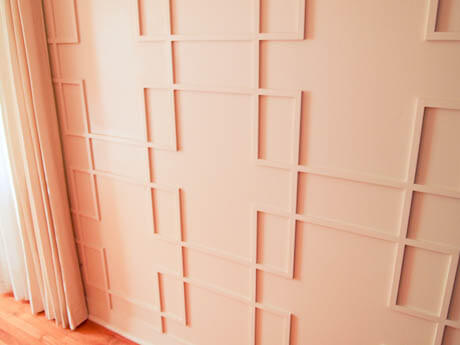 how to make a mid century modern paneled wall