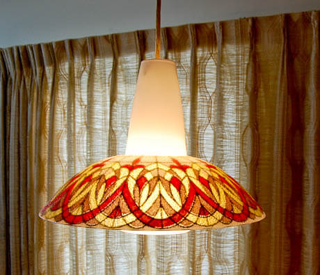 1970s vintage lighting and more in this 1974 time capsule home