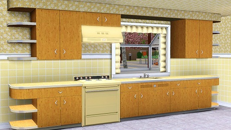 mid century kitchen for sim city