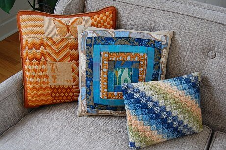 vintage bargello pillows