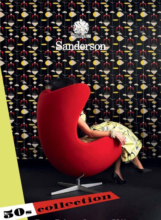 sanderson 1950s wallpaper reproductions