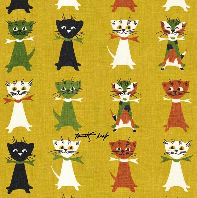 tammis keefe contented cats fabric
