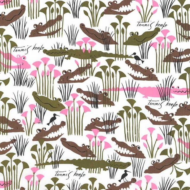 tammis keefe alligator fabric