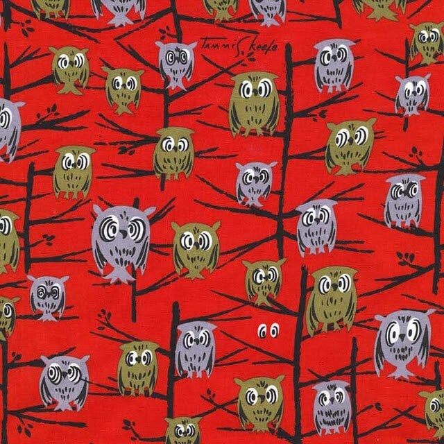 tammis keefe owl fabric