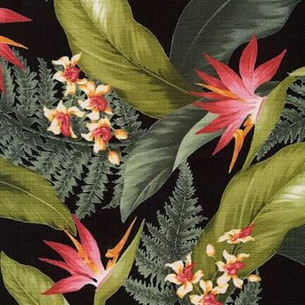 tropical barkcloth