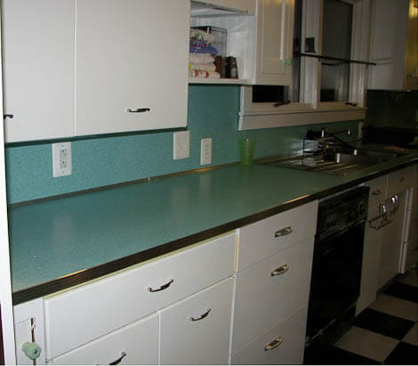 aluminum countertop edging installed