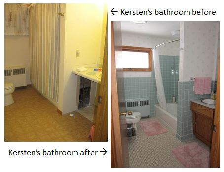 retro bathroom before and after