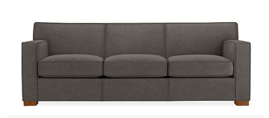 dean mid century style sofa by room and board
