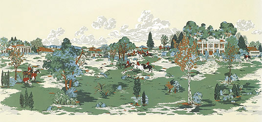 Fox Hunt Mural From Thibaut