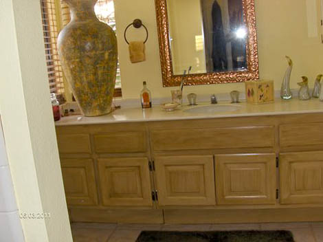 bathroom vanity updated using rust oleum cabinet transformations painting kit