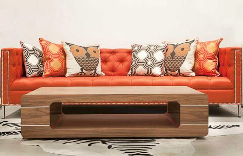 hollywood sofa in orange